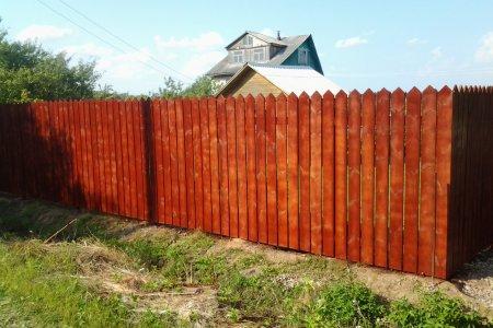 Фото 1 деревянный забор