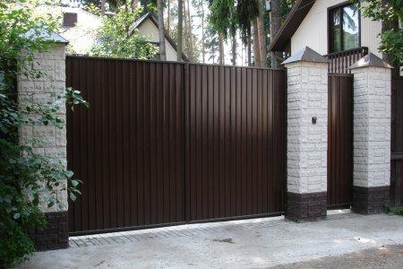 Фото 1 забор из профнастила
