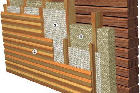 Использование утеплителей для деревянных домов