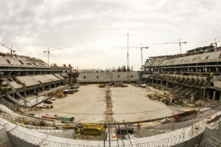 Готовность стадиона в Санкт-Петербурге составляет примерно 65%