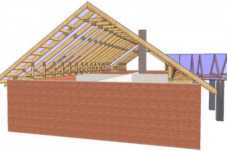 Обустройство стропильной системы двускатной крыши